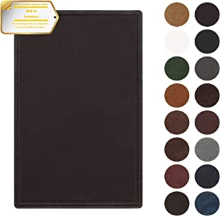 Leather Repair Patch Self-Adhesive Couch Patch Emboss Leather 5X8 inch for Sofas, Car Seats, Handbags, First Aid Patch(Dark Brown)