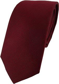 TigerTie - Modische Designer Krawatte in fein gepunktet - Krawatte 7 cm Breite