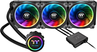 Thermaltake Floe Triple Riing RGB 360 TT Premium Edition PWM TR4 AM4 LGA2066 Ready AIO Liquid Cooling System 360mm CL-W158-PL12SW-A