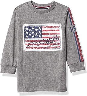 U.S. POLO ASSN. boys LS GRAPHIC TEE T-Shirt