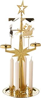 Alexander Taron Importer 9012B Swedish Design Brass Christmas Chime with Candles-11.5