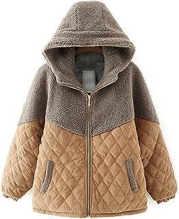 معطف شتوي كايكسياوتينغ مبطن للنساء بحجم كبير، معطف سميك بغطاء رأس، ملابس خارجية دافئة فضفاضة (اللون: كاكي، المقاس: XX-Large)