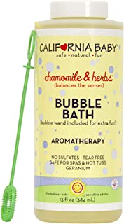 California Baby Chamomile and Herb Bubble Bath | No Tear | Pure Essential Oils for Bathing | Hot Tubs, or Spa Use | Moistu...