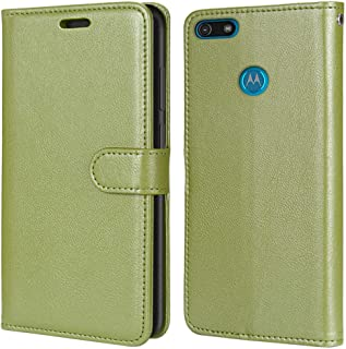Laybomo Carcasa para Motorola Moto E6 Play Tapa Funda Cuero Estilo-Sencillo Monederos Billetera Bolsa Magnética Protector ...