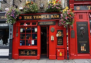 AOFOTO 10x7ft Front of The Temple Bar Background Dublin Street Photography Backdrop Ireland Travel Lovers Adult Artistic Portrait Photo Studio Props Vinyl Seamless Wallpaper