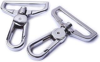 Bobeey 4pcs 1 1/2 Inch Swivel Snap Hooks Purses Clasps,Purse Hardware,Silver Purse Lobster Clasps,Purses Hooks,Sturdy Snap...