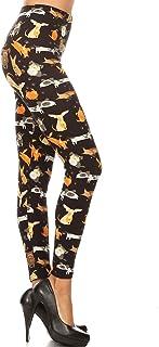 Leggings Depot Women's Ultra Soft Printed Fashion Leggings BAT14