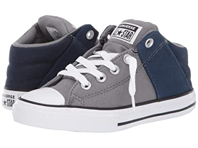 Converse Kids Chuck Taylor(r) All-Star(r) Axel Canvas + Textile Mid (Little Kid/Big Kid) (Mason/Obsidian/White) Boys Shoes