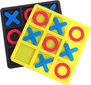 NUOBESTY 2 Boxes Tic Tac Toe Game Board Game Strategy Board Game Family Games Night Classic Board Games Tactile Puzzle