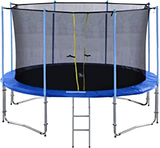 Exacme 16 15 14 12 10 Foot TUV Approved Heavy Duty Trampoline with Intra Enclousre Net, Spring Cover, Ladder, Include All Accessories