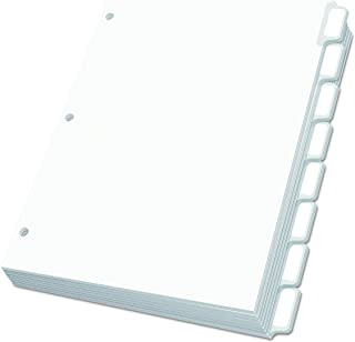 Oxford 11316 Custom Label Dividers, Self-Stick Tab Labels, 8-Tab, Letter, White (Box of 25 Sets)