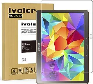 ivoler Protector de Pantalla para Samsung Galaxy Tab S 10.5 Pulgadas (SM-T800/SM-T805), Cristal Vidrio Templado Premium [Dureza 9H] [Anti-Arañazos] [Sin Burbujas]