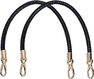 AUEAR، 2 حزمة مقابض حقيبة يد من الجلد الصناعي مع مشبك الربيع الذهبي لحقيبة الكتف محفظة سوداء