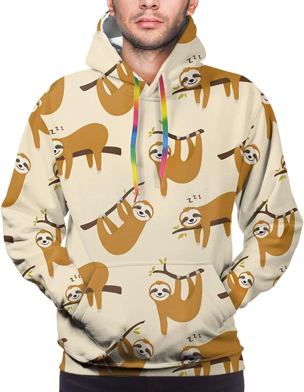 Hoodie For Teens Boys Girls Cute Cartoon Sloth Hoodies Outdoor Sports Sweater