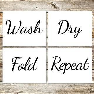 Laundry Room Wash Dry Fold Repeat 8x10 Art Prints