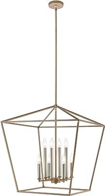 Elk Lighting 57226/8 Pendant, Light Wood, Satin Nickel