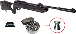 Hatsan Mod 130S Vortex QE (Quiet Energy) Breakbarrel .30 Caliber Air Rifle with Included Pack of 100 Pellets Bundle (Pellets Caliber/Weight .30/46.3 Grains) and Wearable4U Cloth