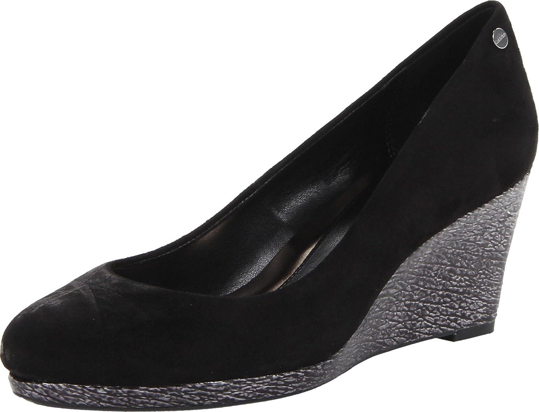 層推進ピル[Calvin Klein] レディースLinウェッジポンプ カラー: ブラック