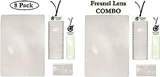 Premium Fresnel Lens 8 Pack Set. Large Full Page 8.3