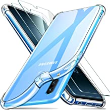 ivencase Samsung Galaxy A40 Funda+[2 Pack] Cristal Templado, Ultra Fina Silicona TransparenteTPU Carcasa Protector Airbag Anti-Choque Anti-arañazos Case Cover para Samsung Galaxy A40