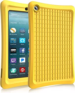 Benazcap Case for All-New 7 Inch Tablet 2019 - Lightweight Shockproof Anti Slip Soft TPU Case Protective Kids Cover for 2019 Tablet 7 Inch 9th Gen, Yellow
