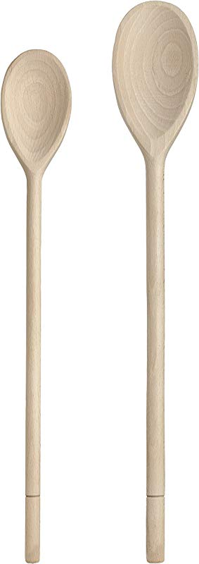 HIC Wooden Spoon Set Set Of 2 14 Inch And 16 Inch