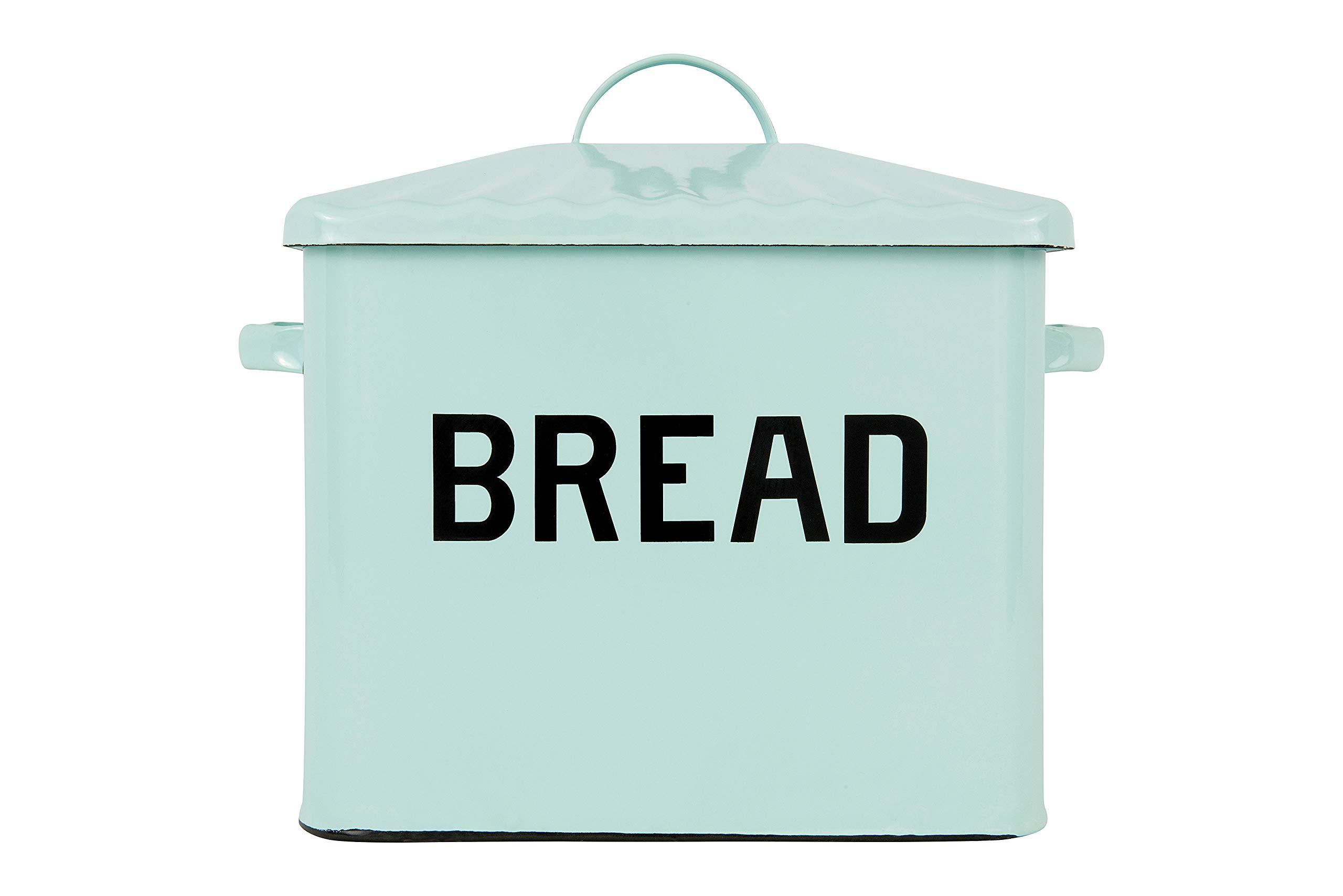 Creative Co-Op Distressed WhiteBREAD Box with Lid Renewed