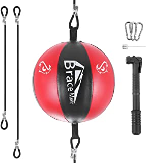 VAlinks Professional Double End Speed Bag PU Leather Punch Ball Striking Bag for