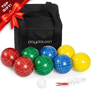 Bocce Ball Set Game with Case - 4 to 8 Player Bocce Balls Set - 90 or 100mm Balls