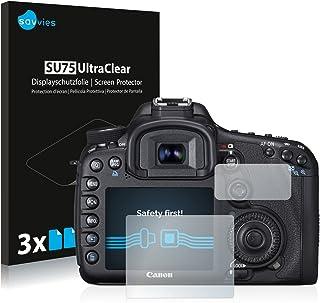 savvies Protector Pantalla Compatible con Canon EOS 7D (6 Unidades) Pelicula Ultra Transparente