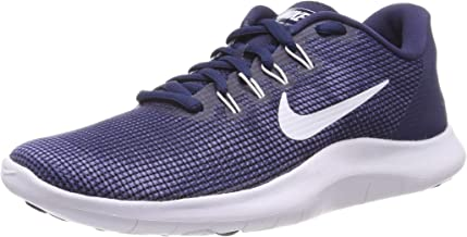 Nike Men's Flex 2018 Rn Midnight Navy/White Ankle-High Mesh Running Shoe - 7M