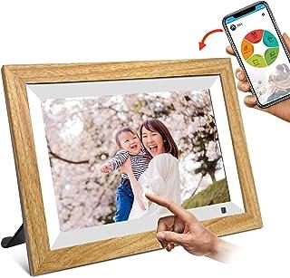 moonka デジタルフォトフレーム 10.1インチwifi対応 1280*800 タッチパネル IPS視野角 16GBメモリ 無料アプリ写真や動画再生 スライド日本語取扱説明書ショー プレゼント用 日本語説明書