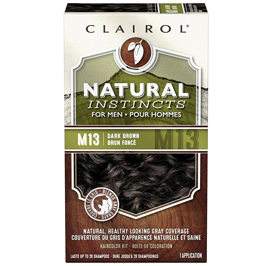 ぴかぴかポータブル印刷するClairol natural instincts haircolor for men, dark brown, #M13 - 1 Ea (並行輸入品)