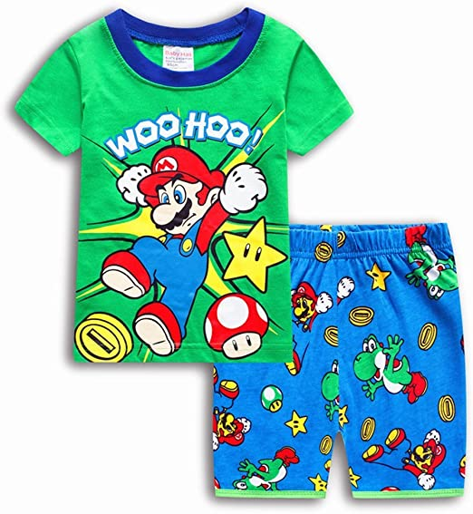 Boys Pajamas 100/% Cotton Spiderman Short Kids Snug Fit Pjs Summer Toddler Sleepwear