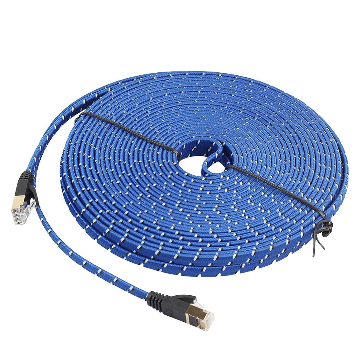 泥口実サスペンドYWH Cable And Tools シールド付きRJ45コネクタ付きモデムルータLANネットワーク用20m金メッキCAT-7 10ギガビット·イーサネット·フラット·パッチ·ケーブル