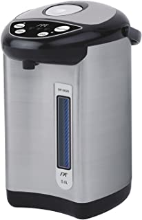 SPT Hot Water Dispenser SP-5020 Stainless with Multi-Temp Feature (5.0L), 16.93 x 10.24 x 10.24 Inch, Black