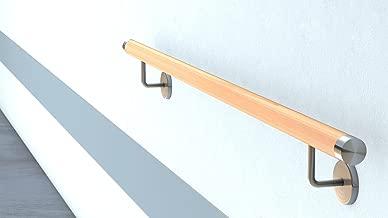 Montagefertiger Buche Treppe Wand Handlauf//Gel/änder//Rundholz//Stange//Griff lackiert /Ø 42 mm mit bearbeiteten Enden ohne Handlaufhalter L/änge 1,7 m 170 cm s/ägerau Enden gekappt 1700 mm