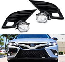 iJDMTOY JDM Style OEM-Spec 15W LED Fog Light Kit For 2018-up Toyota Camry SE & XSE, Includes (2) LED Fog Lamps, Gloss Black Bezel Covers & On/Off Switch Relay Wiring Harness