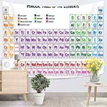 Lichtion Tapestry Periodic Table The Elements English Multicoloured Wall Hanging Polyester Living Room Beach Towel Picnic Mat Bedding Decoration 60 X 80 Inches