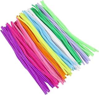 NUOBESTY Limpadores de Cachimbo Chenille Caules 100Pcs Conjunto Fuzzy Chenille Varas Coloridas Fontes Do Ofício para As Cr...