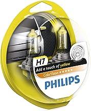 Philips ColorVision Bombilla para faros delanteros amarilla 12972CVPYS2 - bombilla para coches (55W, H4/H7, Fog light, High beam, Luz interior, Low beam, Parking light, Signaling, Stop light)