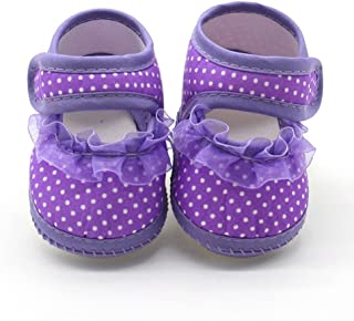 Baby Girls Soft Sole Satin Bow Pram Shoes Christening Special Occasion 6-15M