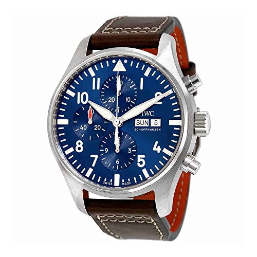 1f7d73c0316 IWC Mens Pilot s Chronograph Edition Le Petit Prince IW377714 Analog  Automatic Brown Watch