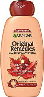 Garnier Original Remedies - Champú Reparación Intensa con Remedio de Arce y Aceite de Almendra para Pelo Seco o Muy Dañado...