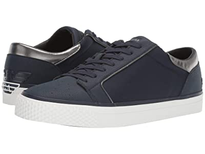 Emporio Armani Simple Leather Classic Sneaker (Navy) Men