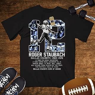 Staubach-12 Shirt Dallas Football QB Fame Ring Of Honor Customized Handmade Hoodie/Sweater/Long Sleeve/Tank Top/Premium T-shirt