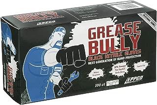 GREASE BULLY 6 mil Black Nitrile Gloves - Large -100ct