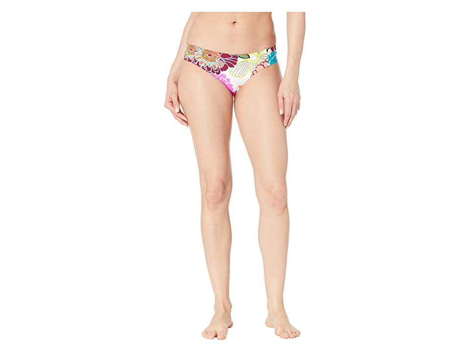 Trina Turk Radiant Blooms Shirred Side Hipster Bottoms (Multicolored) Women
