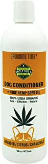 All Natural Hemp Dog Conditioner SOOTHES and MOISTURIZES Dry Skin PARABEN Free, SULFATE Free, GMO Free …