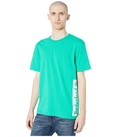 Timberland Short Sleeve Established 1973 Block Logo Tee (Deep Mint/White) Men